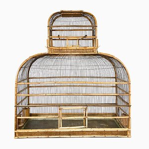 Large Antique Rattan Birdcage, 19th Century