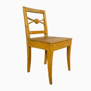 Antique Pine and Elm Wooden Chair