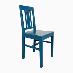 Swedish Antique Blue Painted Chair