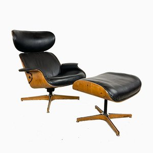 Vintage Mr Chair and Ottoman by George Mulhauser for Plycraft, 1966, Set of 2