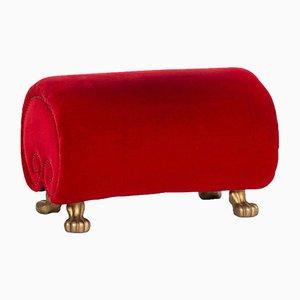Red Velvet Stool by Bretz Gaudi