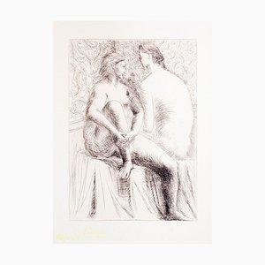 Pablo Picasso, 2 Frauen nackt, Original Radierung, 1930er