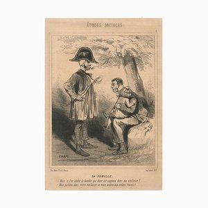 Charles Amedee De Noe (Cham), Sozialkunde, Originallithographie, erste Hälfte des Jahres 1800