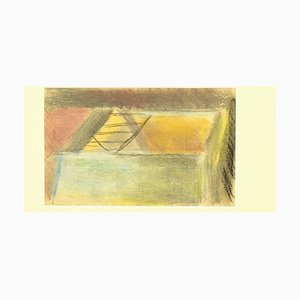 Unknown, the Secret Ladder, Original Pencil and Pastel on Paper, 1880s