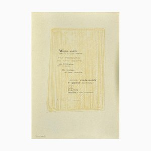 Emile Hugon, Poetry, Original Photo-Lithograph on Cardboard, Early 20th Century