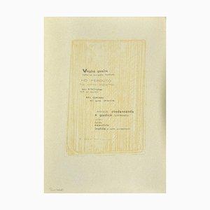 Emile Hugon, Poetry, Original Photo-Lithograph on Cardboard, Frühes 20. Jahrhundert