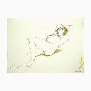Leo Guida, Nude, Original Mixed Media on Paper, 1970s