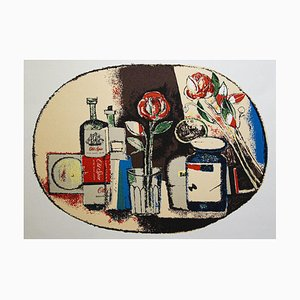 Franco Gentilini, Still Life, Original Offset, Anni '70