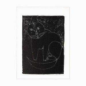 Franco Gentilini, le chat, offset original, années 1970