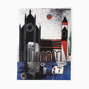Franco Gentilini, la cathédrale, offset original, 1970
