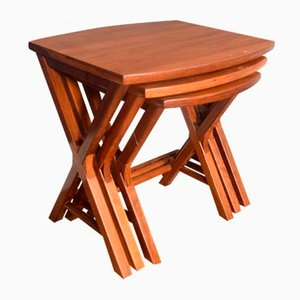 Cherrywood Nesting Side Tables from Starbay, Set of 3