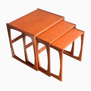 Tables Gigognes Quadrille en Teck de G-Plan, 1960s, Set de 3