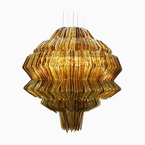 Italian Brilli D Gold and Brown Polycarbonate Lamp by Jacopo Foggini