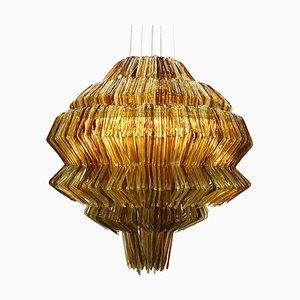 Italienische Brilli D Gold und Braune Polycarbonate Lampe von Jacopo Foggini