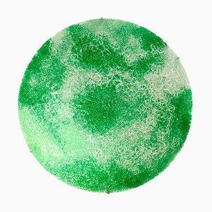 Italian Green Polycarbonate Circular Wall Lamp by Jacopo Foggini