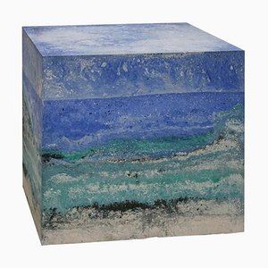 Model Core 19 Spanish Stuccoed Marble Side Table