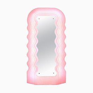 Lampe Miroir Ultrafragola Perplex et Rose Neon par Ettore Sottsass
