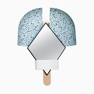 Italian Light Blue 'Bonnet Mirror by Elena Salmistraro