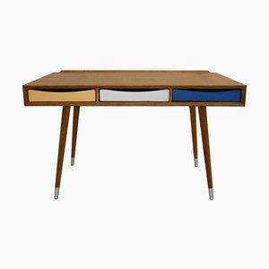 Italienischer Massiver Holz Schreibtisch mit Drei Schubladen