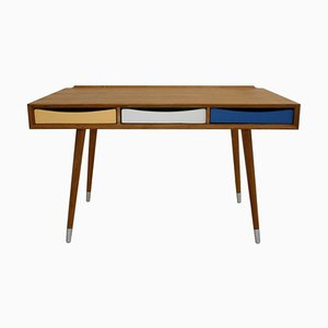 Solid Wood Italian Desk with Three Drawers