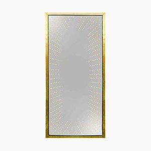 Großer Italienischer Modernistischer Messing Modern Messing Spiegel