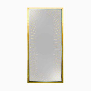 Large Model Infinity Italian Modern Brass Mirror