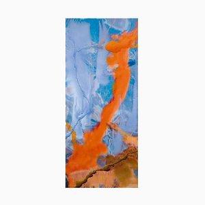 Dario Urzay, Spanish Abstract Artwork, Aluminium Blue and Orange