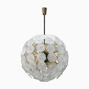 Mid-Century Sputnik Murano Glas und Messing Hängelampe, Italien