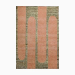 Rectangular Wool and Jute Strawberry Popsycle Indian Carpet by Helena Rohner