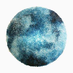 Italienische kreisförmige blaue Polycarbonat-Tondo-Wandlampe von Jacopo Foggini