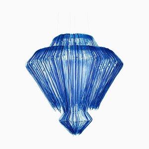 Blue Polycarbonate Italian Brilli Blu Pendant Lamp by Jacopo Foggini