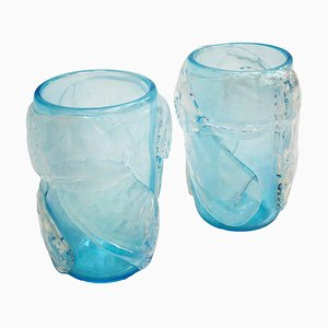 Mid Century Murano Glass Italian Vases by Costantini, Set of 2