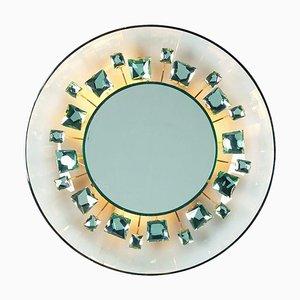 Italian Model 2044 Illuminated Glass Mirror by Max Ingrand for Fontana Arte, 1960s