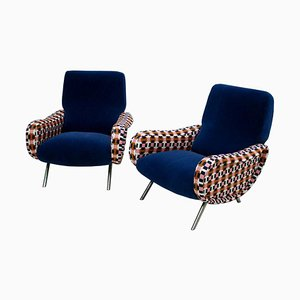 Mid-Century Lady Italian Armchairs by Marco Zanuso, Set of 2