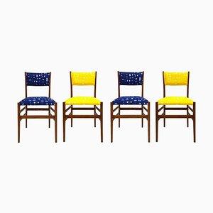 Italienische Mid-Century Leggera Stühle aus Eschenholz von Gio Ponti, 1951, 4er Set