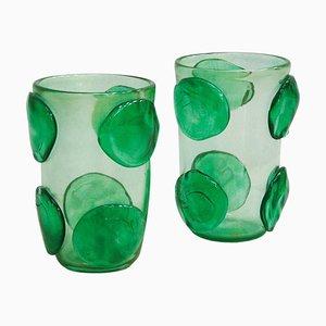Mid-Century Murano Glass Italian Vases by Costantini, Set of 2
