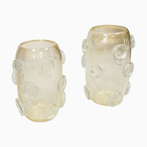Mid-Century Murano Glass Italian Vases by Costantini, Set of 2