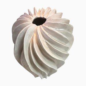 Handcrafted White Terracotta Italian Vase