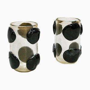 Mid-Century Murano Glass Italian Vases from Costantini, Set of 2
