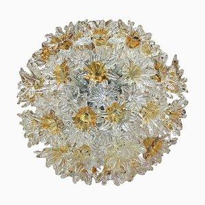 Italienische Mid-Century Deckenlampe von Venini Murano Glas