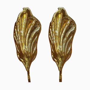 Mid-Century Brass Italian Sconces by Tommaso Barbi, 1960s, Set of 2