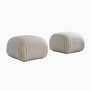 Wool Ottomans, 1960s, Set of 2