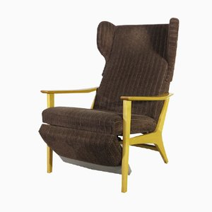 Vintage Corduroy Armchair, 1960s