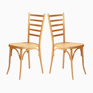 Sedie da pranzo in legno, Scandinavia, anni '70, set di 2