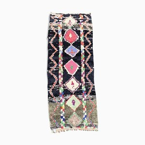 Vintage Boucherouite Berber Carpet