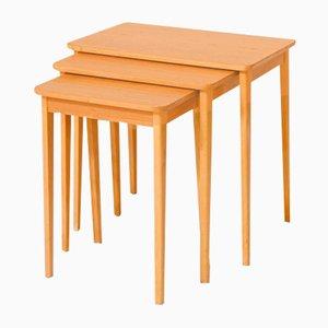 Tables Gigognes en Teck, Danemark, 1950s, Set de 3