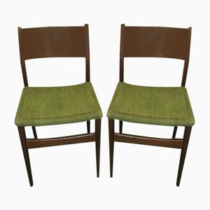 Teak Side Chairs, 1960s, Set of 2