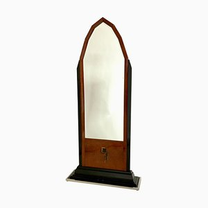 Vintage Art Deco French Standing Mirror, 1930s