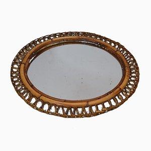 Italian Bamboo Circular Mirror, 1960s