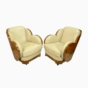 Vintage Art Deco French Epstein Lounge Chairs, 1930s, Set of 2
